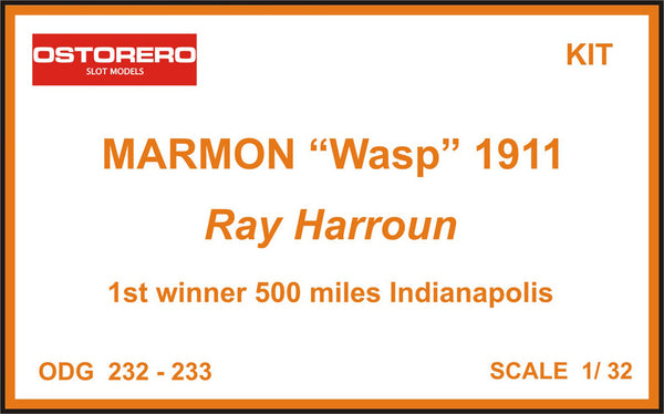 "Marmon ""Wasp"" orange livery - Ray Harroun - Kit Pre Painted - SOLD OUT"