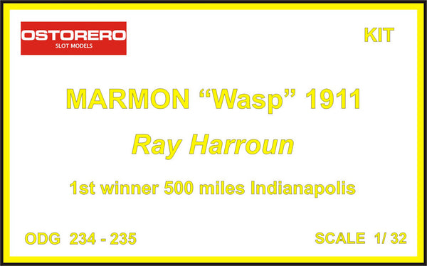 "Marmon ""Wasp"" yellow livery - Ray Harroun - Kit Unpainted - SOLD OUT"