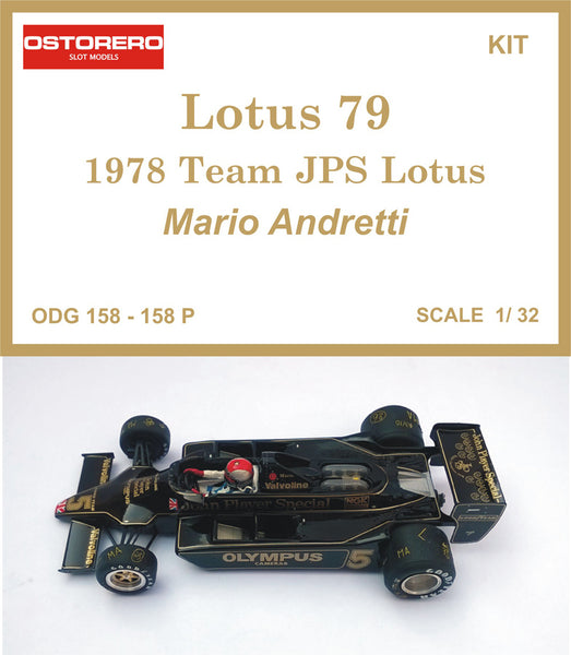 Mario Andretti  - 1978 Lotus 79 JPS - Kit Pre Painted - OUT OF PRODUCTION