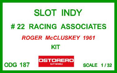Watson - Racing Associates - Roger McCluskey Kit Pre-Painted - SOLD OUT