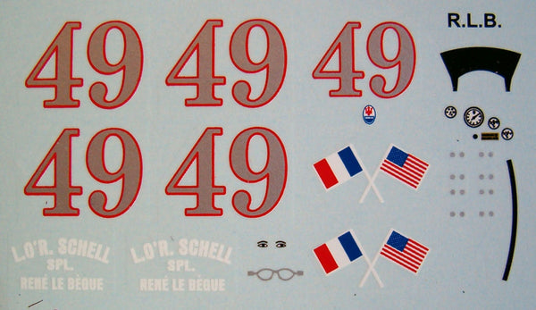 Decal Maserati 8 CTF # 49 - René Le Begue