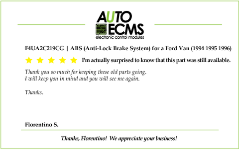 F4UA2C219CG | ABS (Anti-Lock Brake System) for a Ford Van (1994 1995 1996)