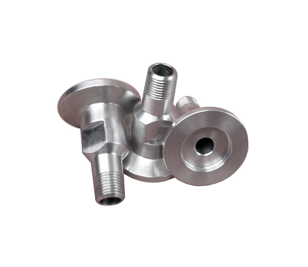 "NW25 X .375"" Male National Pipe Tap (MNPT), 304 Stainless Steel (3/8"" NPT)"