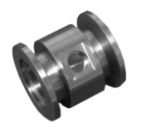 "NW40 x NW40 x 1/8"" Gauge Port Tee Stainless Steel"