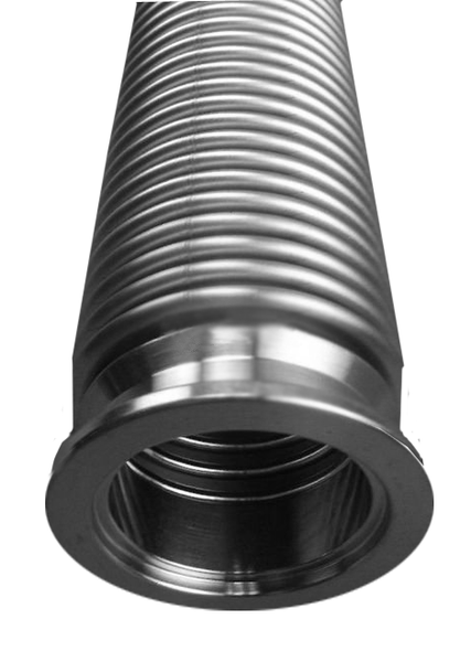 "NW40 X 20"" Bellows Hose Fitting .009 Wall Thickness 304 Stainless Steel"