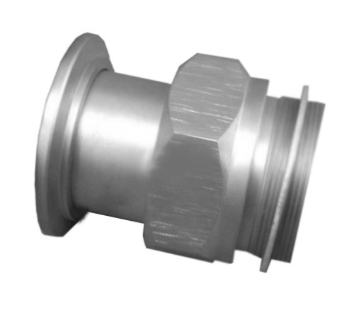 "NW40 X 1.75"" FINE THREAD Adapter Welch Pumps 304 Stainless Steel"