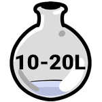 10 to 20 liter Rotary Flask
