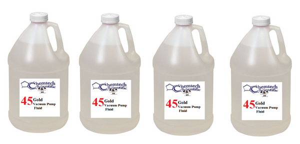 CS 45 Gold Vacuum Fluid Case of four, 4 liter bottles