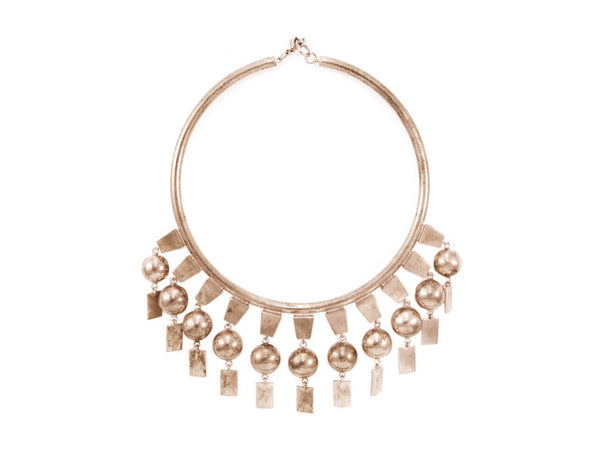 Rose gold plated necklace with dangles