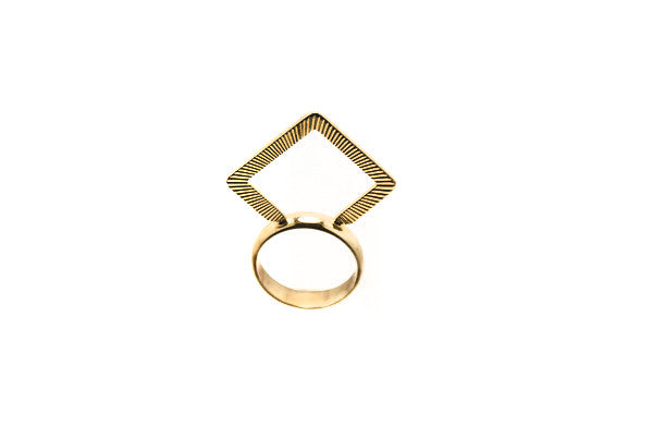 14 kt plated ring
