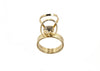 14 kt gold ring with clear swarovski crystal