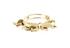14 kt gold statement bracelet