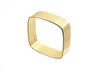14 kt gold plated square bangle
