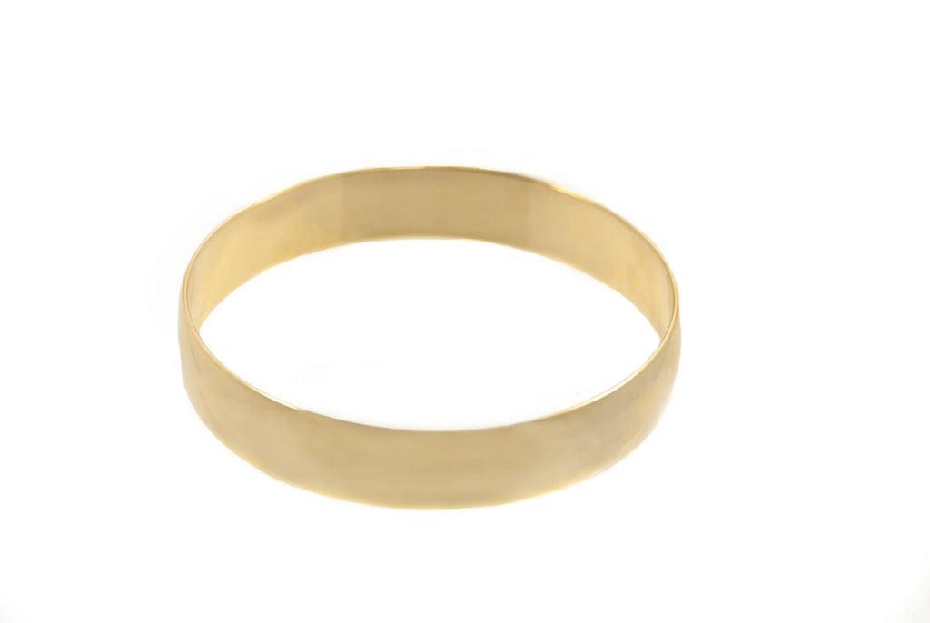 14 kt plated round bangle