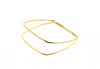 14 kt plated gold 2 tier bangle