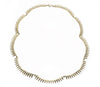 14 kt plated gold spike necklace
