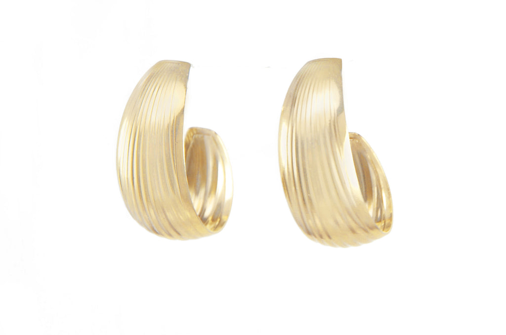 14 kt plated gold earring hoops
