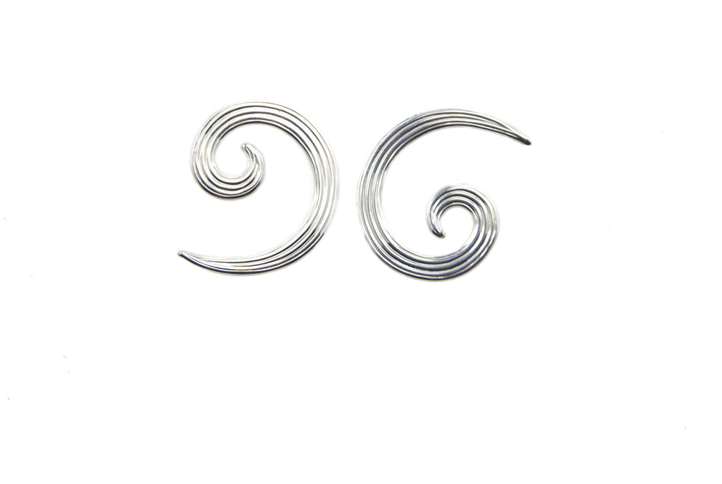 silver plated swirl earrings