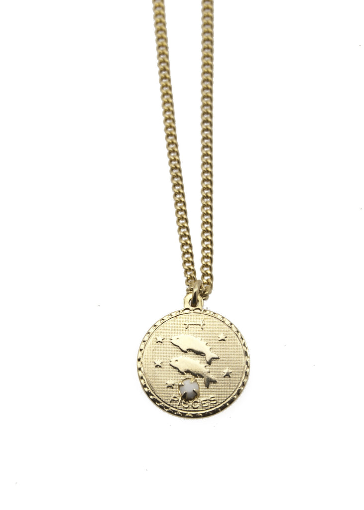 Zodiac Sign Necklace Pisces