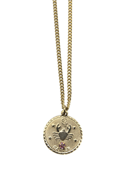 Zodiac Sign Necklace Cancer