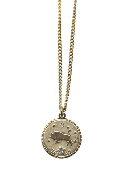 Zodiac Sign Necklace Taurus