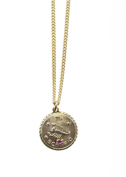 Zodiac Sign Necklace Scorpio