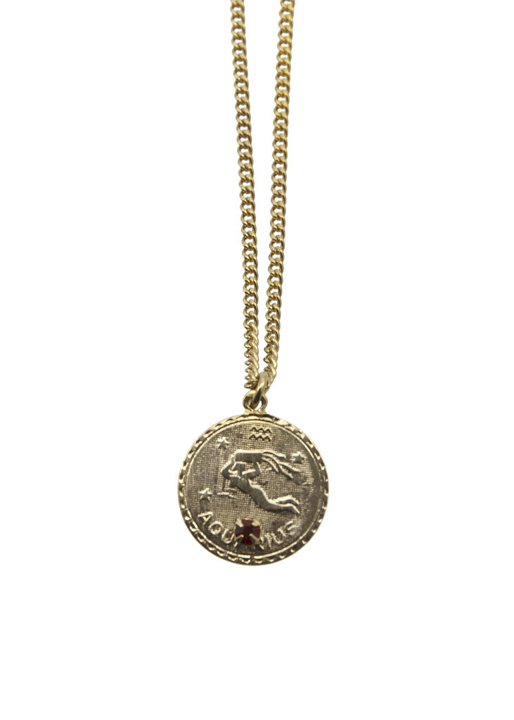 silver charms color pendant gold necklace gift item zodiac jewelry women aquarius simple rhinestone men