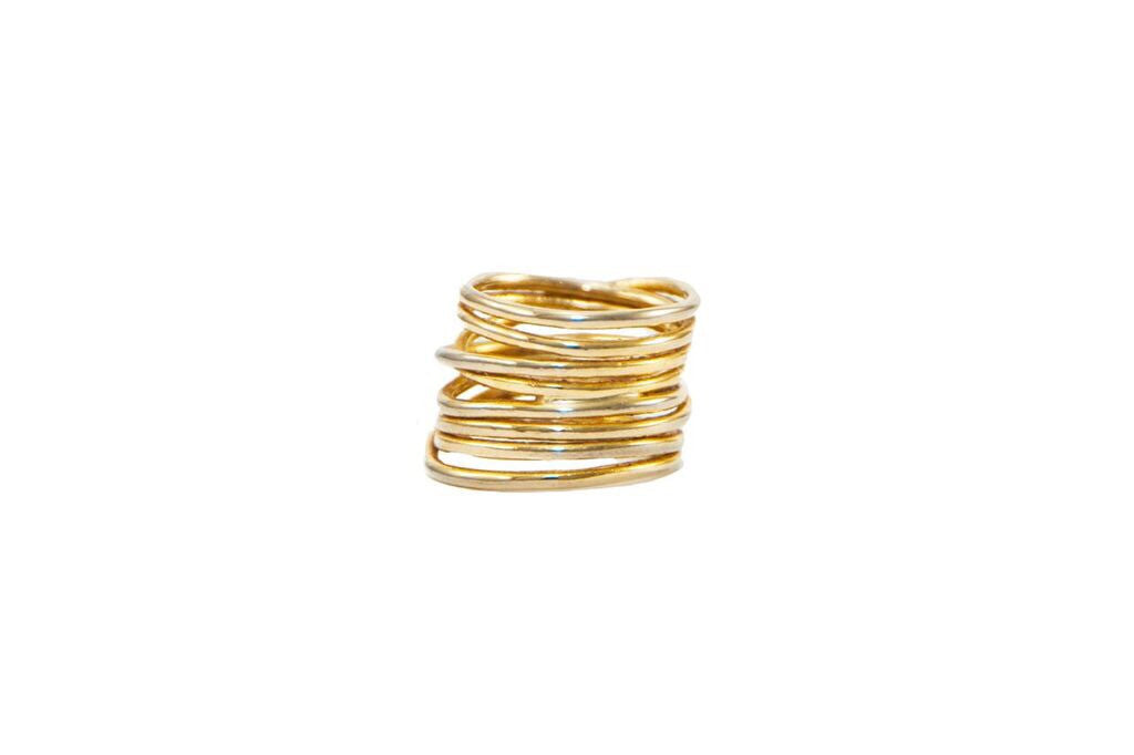 14 kt plated coiled ring