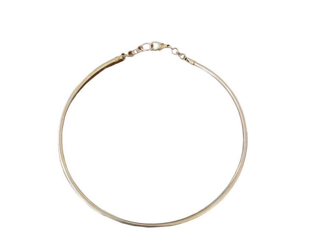 14 kt gold hollow collar necklace