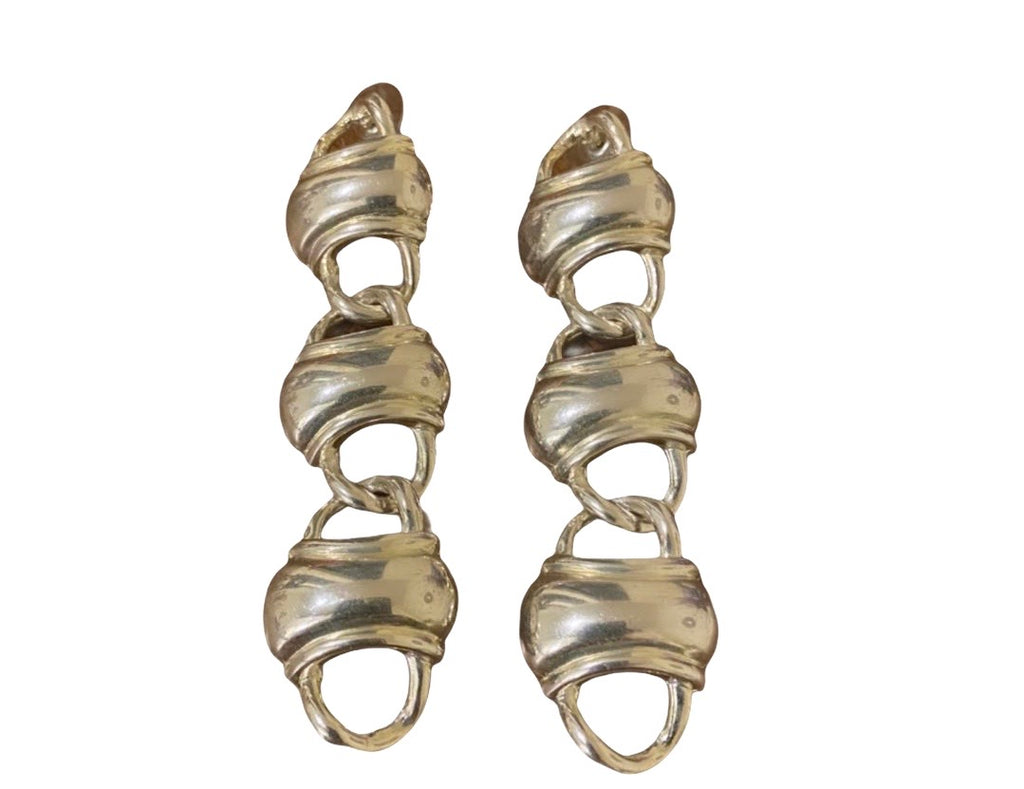 Silver plated long earrings