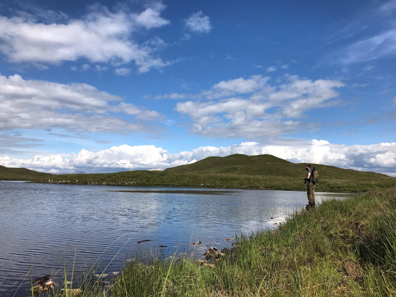 A day out flyfishing on the hill loch