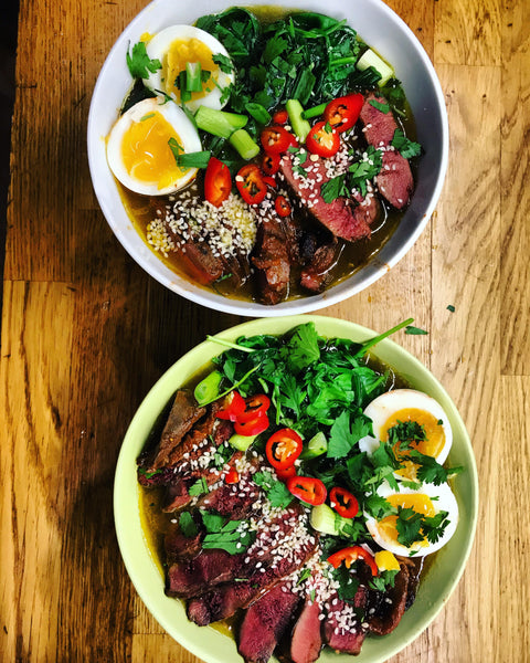 Recipe: Wild woodpigeon ramen with venison & miso broth