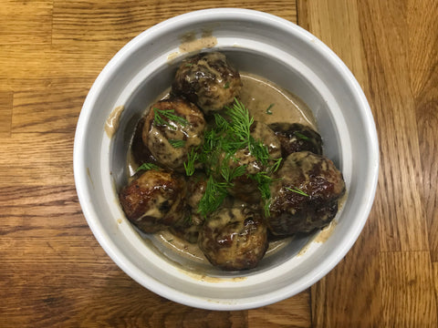 J Boult Designs pheasant meatballs swedish