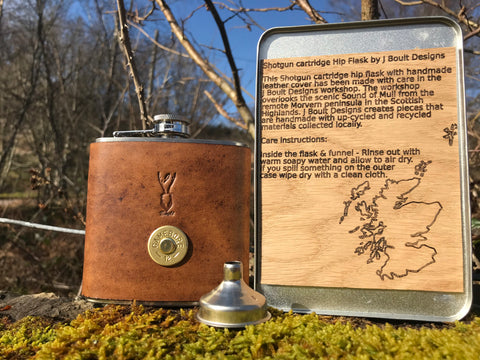 Shotgun cartridge hip flask