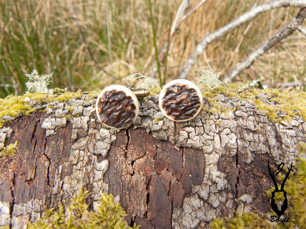 antler cufflinks upcycled design