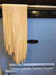 Fresh tagliatelle drying