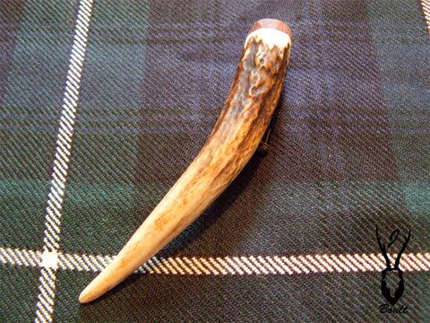 Red Deer Antler Kilt Pin