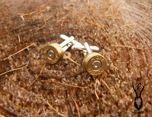 Load image into Gallery viewer, Silver Plated Bullet Cufflinks - J Boult Designs