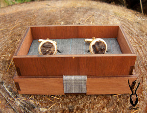 Gold Plated Antler Cufflinks - J Boult Designs