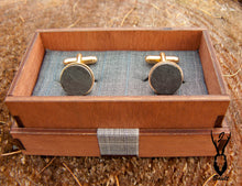 Load image into Gallery viewer, Gold Plated Slate Cufflinks - J Boult Designs
