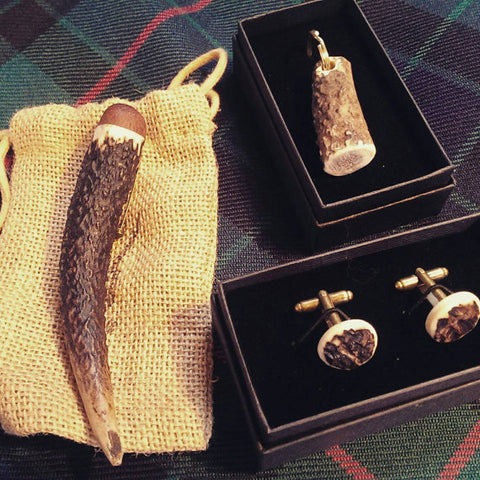 Antler kilt accessory set