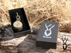 Shotgun cartridge key rings in box