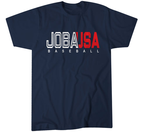 JOBA Baseball USA TEAM LOGO - Polyester Navy