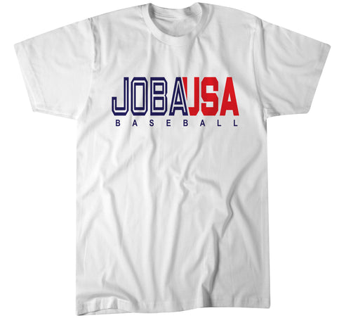 JOBA Baseball USA TEAM LOGO - Polyester White