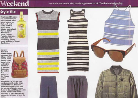 Weekend Style in the Cambridge News So Just Shop