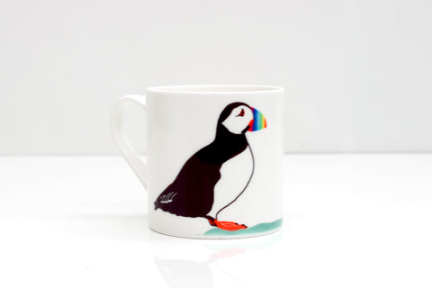 Puffins in Love Bone China Mug