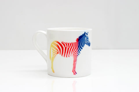 Zebras in Love Bone China Mug