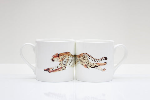 Cheetah Bone China Mug