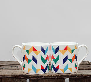 Chevron Bone China Mug