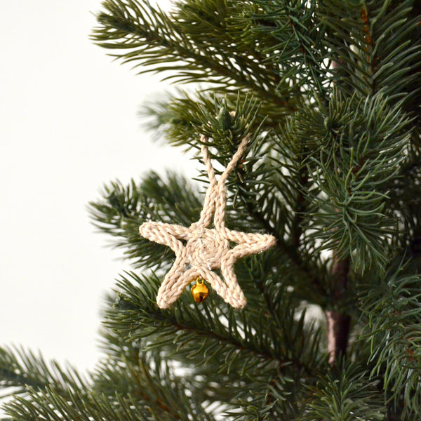 Jute Star Christmas Decoration